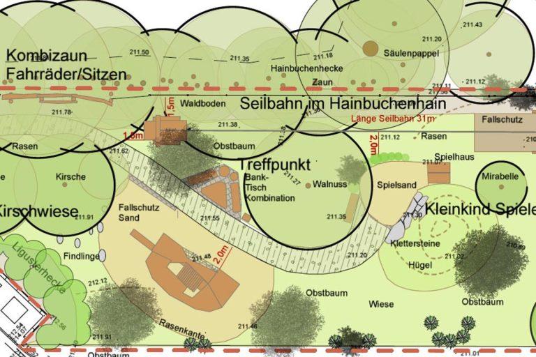 Plangrafik Spielplatz Wilschdorf
